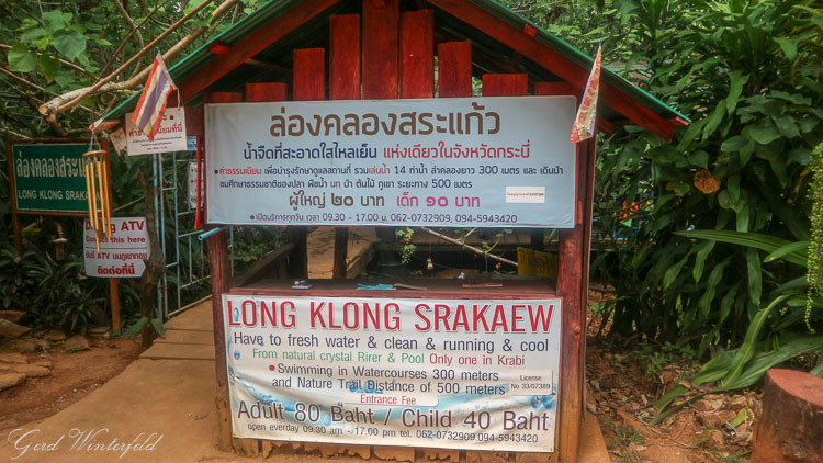 Admission Fees at Klong Sra Kaew