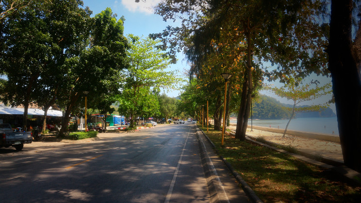 Beach Road at Nopparat Thara Beach, Ao Nang Krabi Thailand